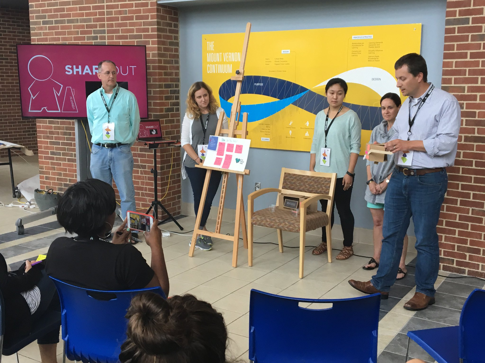 Designing a better world! #fuse17 participants pitch iterated prototypes to  @PlywoodPeople  partners to evaluate and consider implementing https://t.co/WcmvXJqUiY