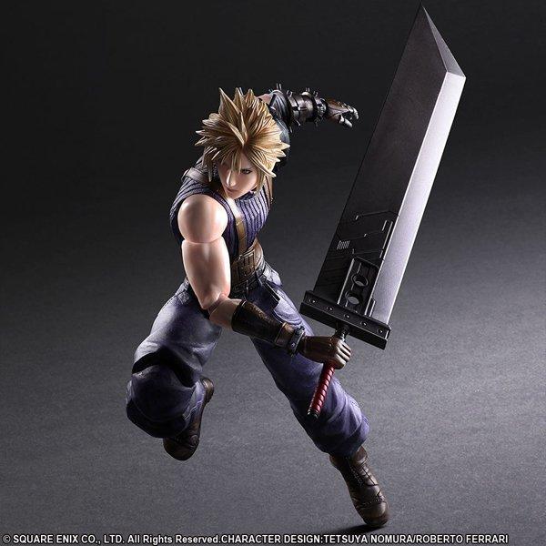 Square Enix FINAL FANTASY VII PLAY ARTS Cloud Strife Action Figure Japan