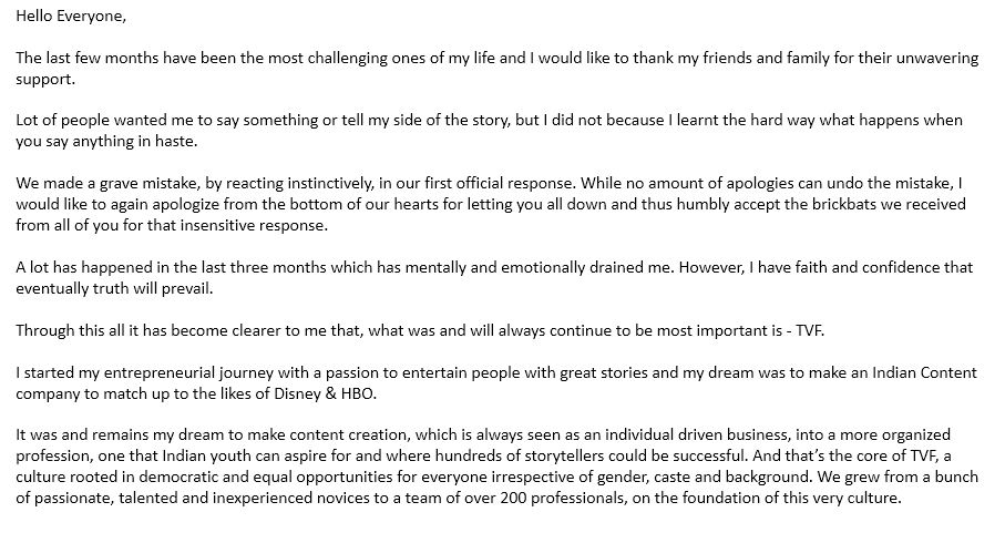 I have decided to step down as #TVFCEO