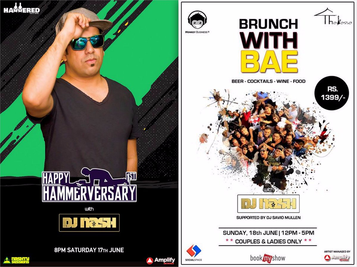 #WeekendWithAMPLIFY Saturday - #Hammered 1st anniversary party. Sunday - #brunch at #Thalassa lounge. .@nash909 #AMPLIFYyourExperience<br>http://pic.twitter.com/yHdTZ1FEvn