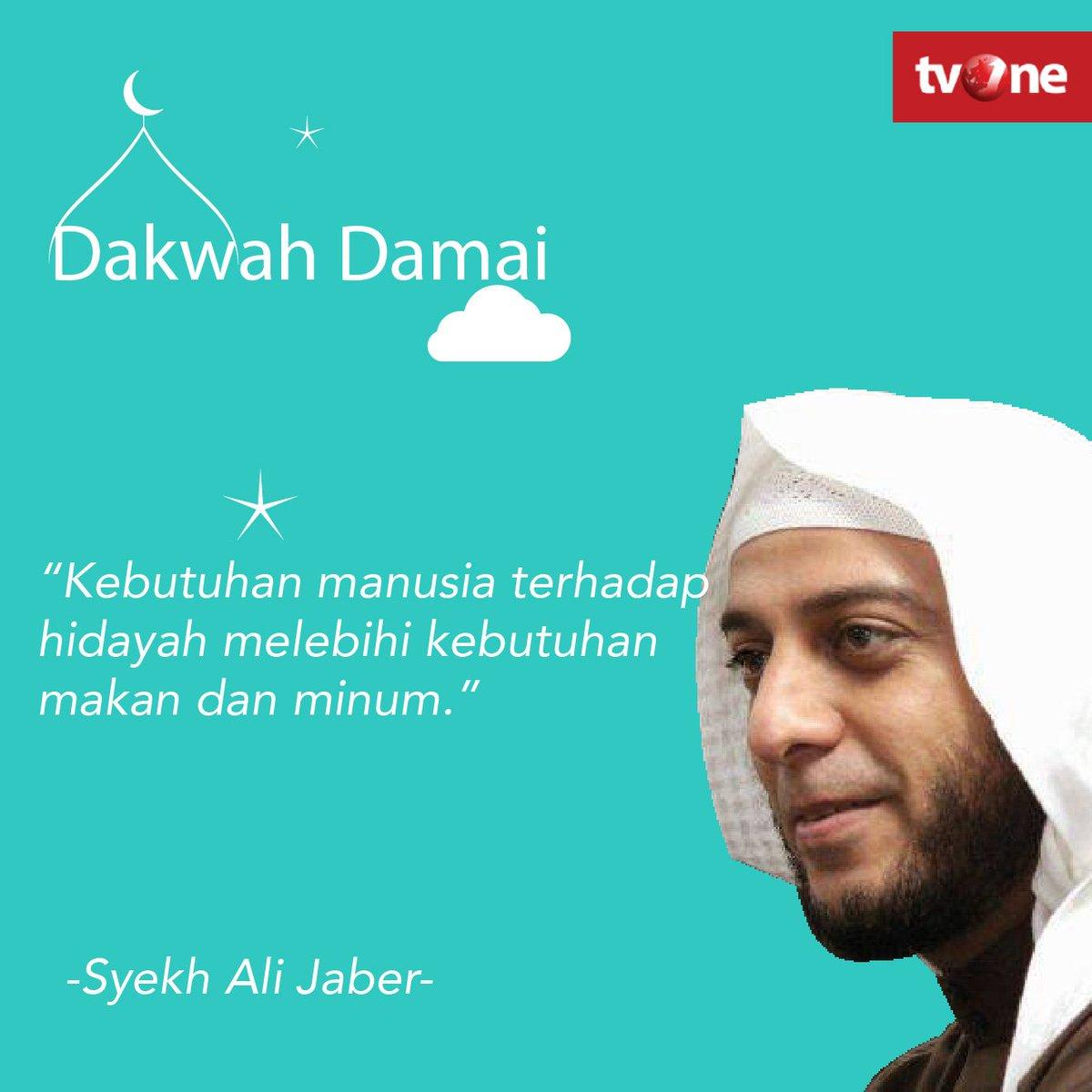 Tvonenews A Twitter Kebutuhan Manusia Terhadap Hidayah Melebihi Kebutuhan Makan Dan Minum Syekh Ali Jaber