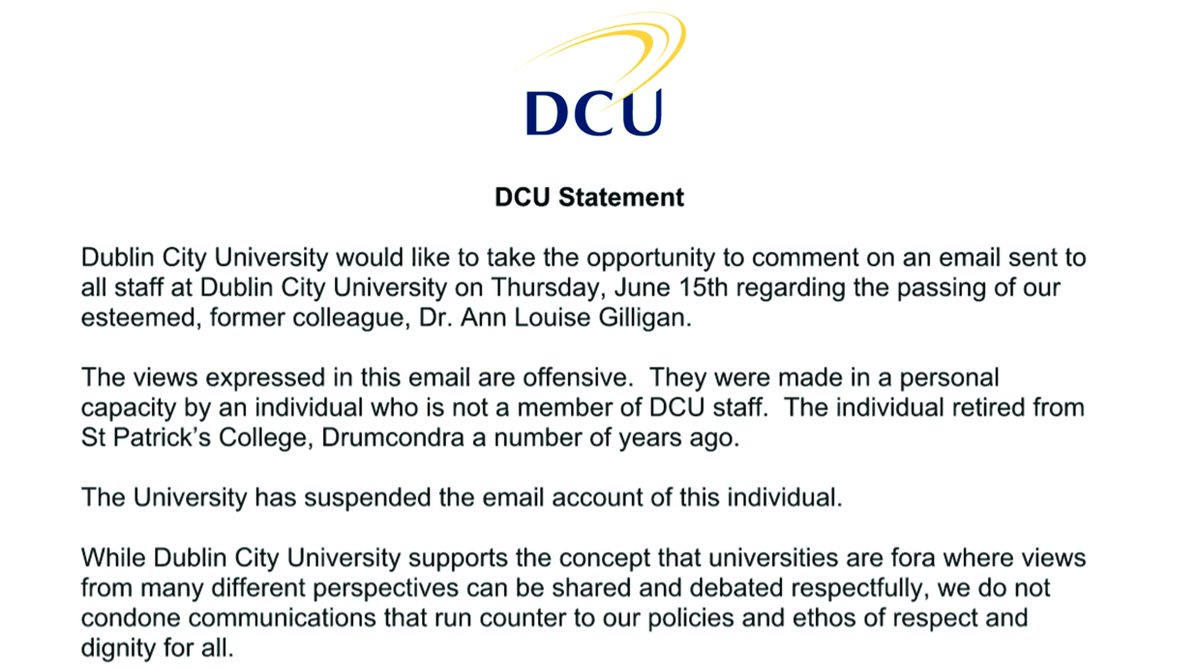 @Cuntharsis A statement has been issued from DCU on this matter. Please see below. https://t.co/hOcsx3mDJH