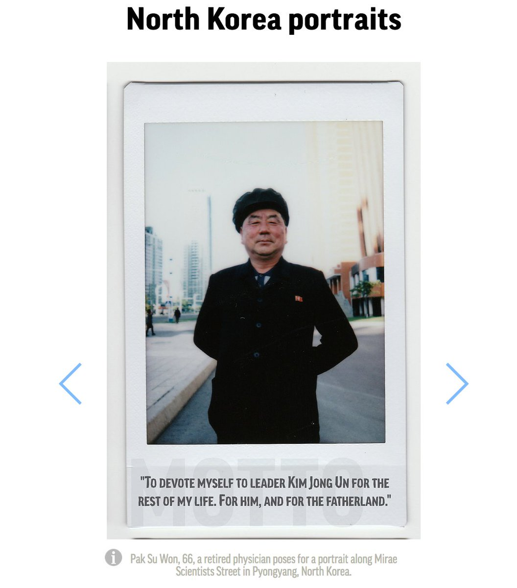 North Korean portraits: a window into their everyday lives. https://t.co/gpx9yf4JY5