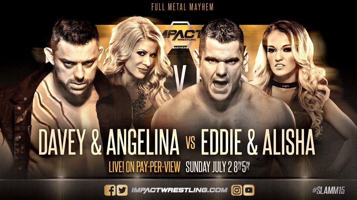 iMPACT Slammiversary XV: Eddie Edwards e Alisha vs. Davey Richards e Angelina Love