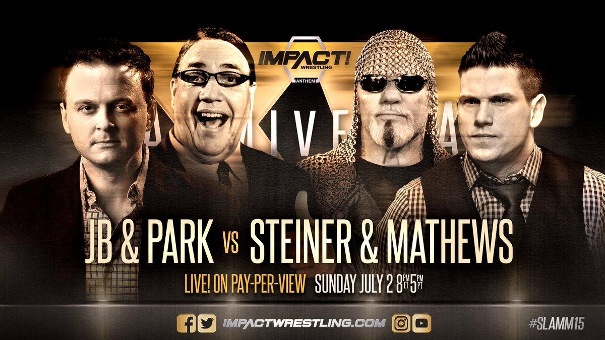 iMPACT Slammiversary XV: Jeremy Borash e Joseph Park vs. Josh Mathews e Scott Steiner