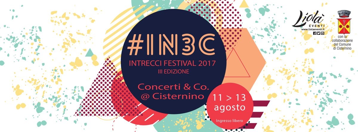 #IN3C #IntrecciFestival #LiolaEventi #Cisternino #Puglia #StayTuned https://t.co/KB6p7fF52f