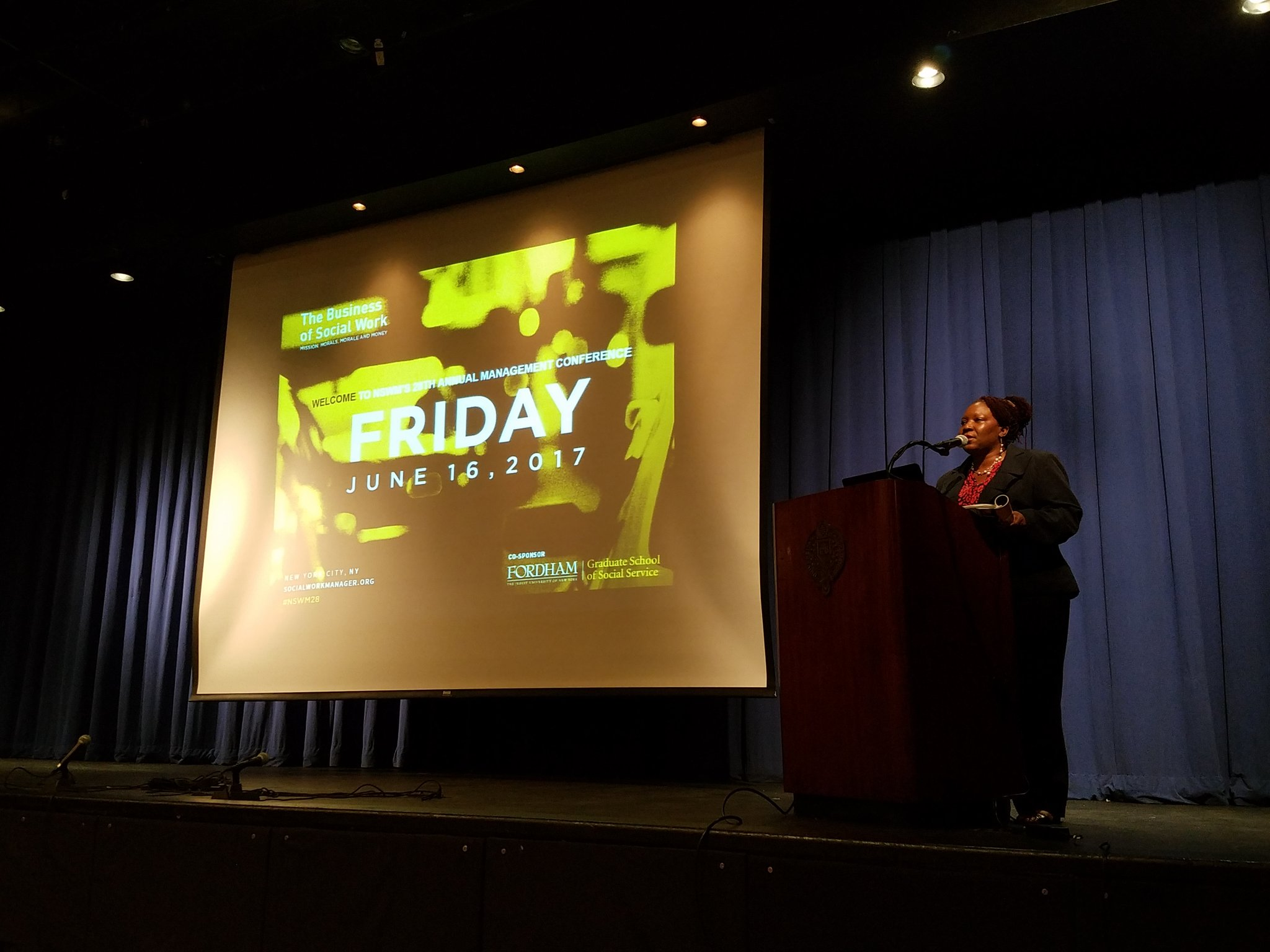 @TheNSWM Program Chair,  Dianne Mack kicks off Day 2 of our conference. #nswm28 https://t.co/uIroIAV7Rb