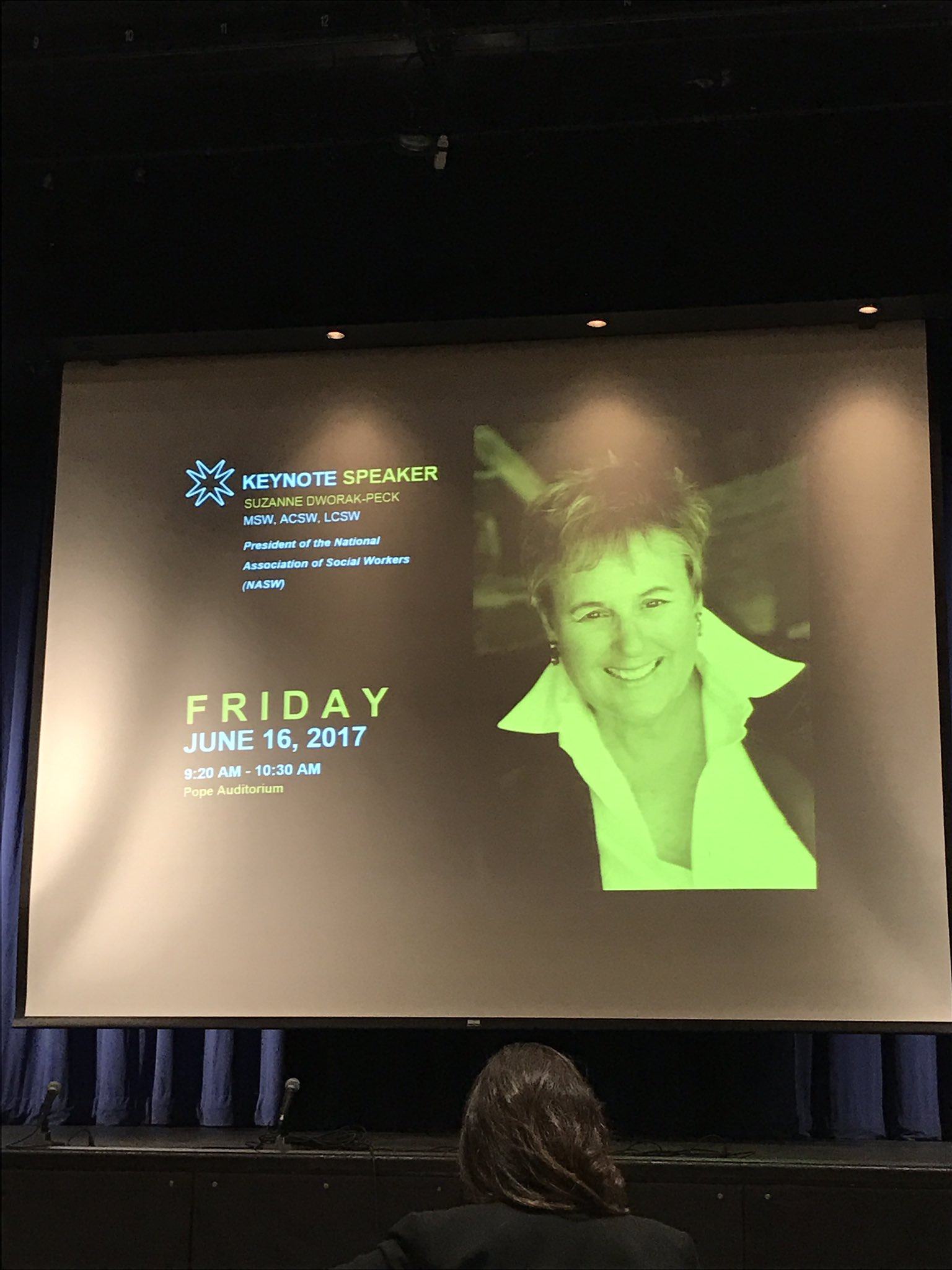 Question of the day, how did Suzanne Dworak-Peck get the @uscsocialwork named after her anyway??  #NSWM28 https://t.co/eHIX6NQSS4