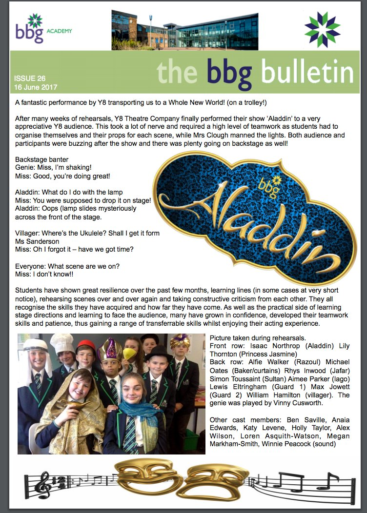Another fantastic half term at BBG comes to an end. Have a lovely break. This week's BBG Bulletin can be found at https://t.co/t9Z7larC0Z