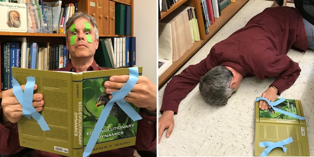 @EcoEvoEvoEco Even mighty lab tape has its limits... #PeopleWhoFellAsleepReadingMyBook https://t.co/QS7FAg8yrW