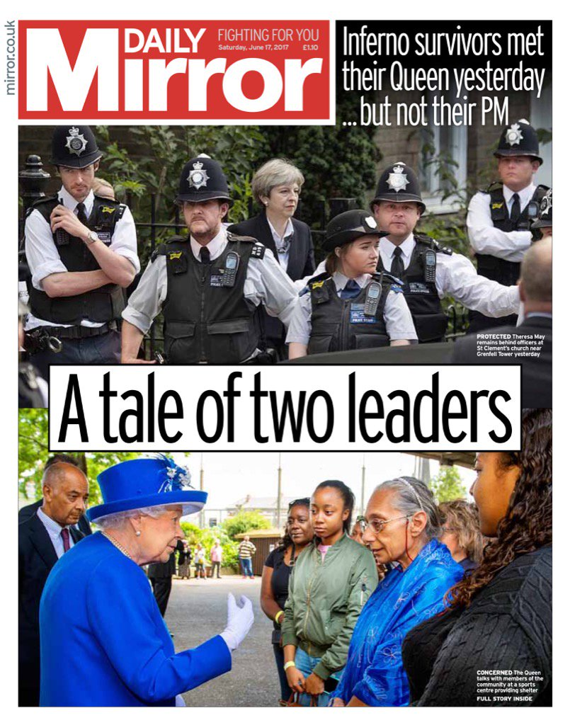 Saturday's Daily MIRROR: 'A tale of two leaders' #bbcpapers #tomorrowspaperstoday (via @AllieHBNews)  https://t.co/bJkA0ZF0zD
