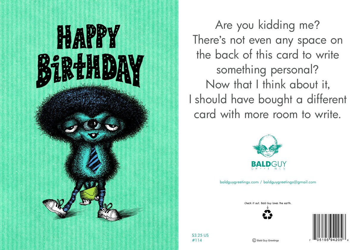 Hey We Actually Have A Birthday Card You Can Send That Doesnt Any Room To Write Message And Our Cards Are Available In Real Lifepictwitter