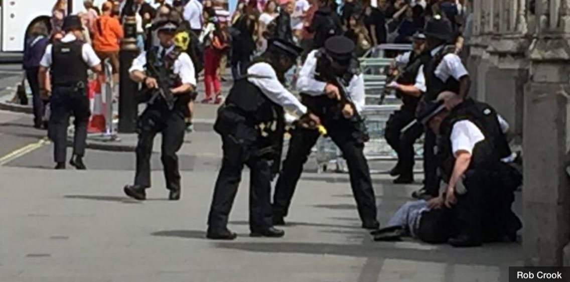 An armed British Police officer subdued knifeman with Taser today at Westminster  #Professional #brave #taser #savinglives<br>http://pic.twitter.com/nyhH7Qkyy8