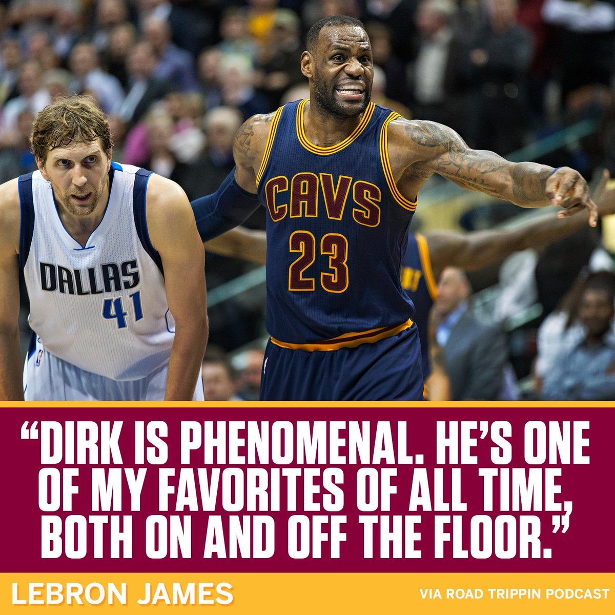 Dirk with a shoutout from The King.