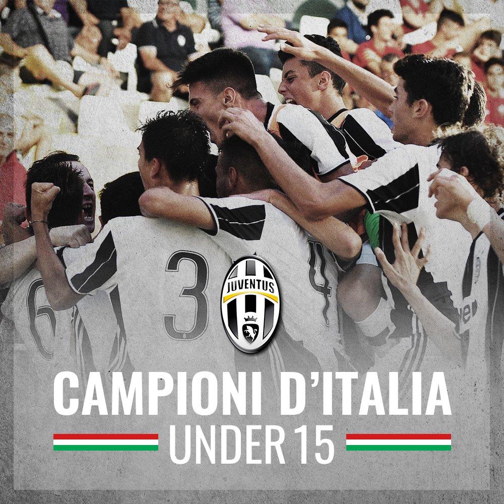 È FINITA! 💪💪💪 #JUVEINTER 2-0, LA JUVENTUS È CAMPIONE D'ITALIA #UNDER15...