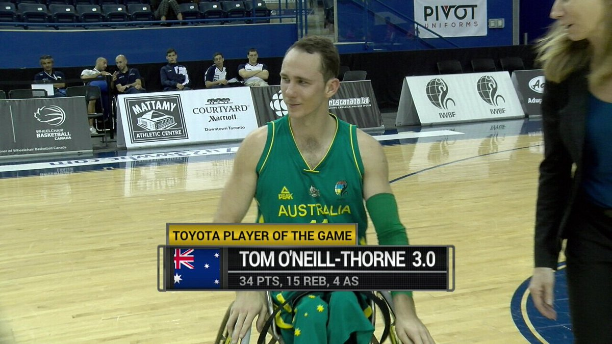 sportscanada tv on twitter tom o 39 neill thorne named toyota player of the game with 34 pts. Black Bedroom Furniture Sets. Home Design Ideas