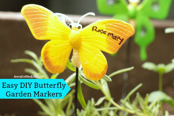 Easy DIY Butterfly Garden Markers