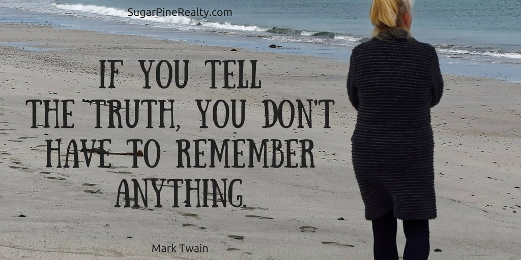 If you tell the truth, you don't have to remember anything. Mark Twain #Quote #FridayMotivation https://t.co/Yd77cmYRZi