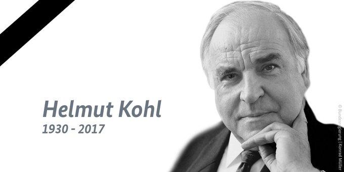 Ein Porträtbild zeigt den Altkanzler Kohl.