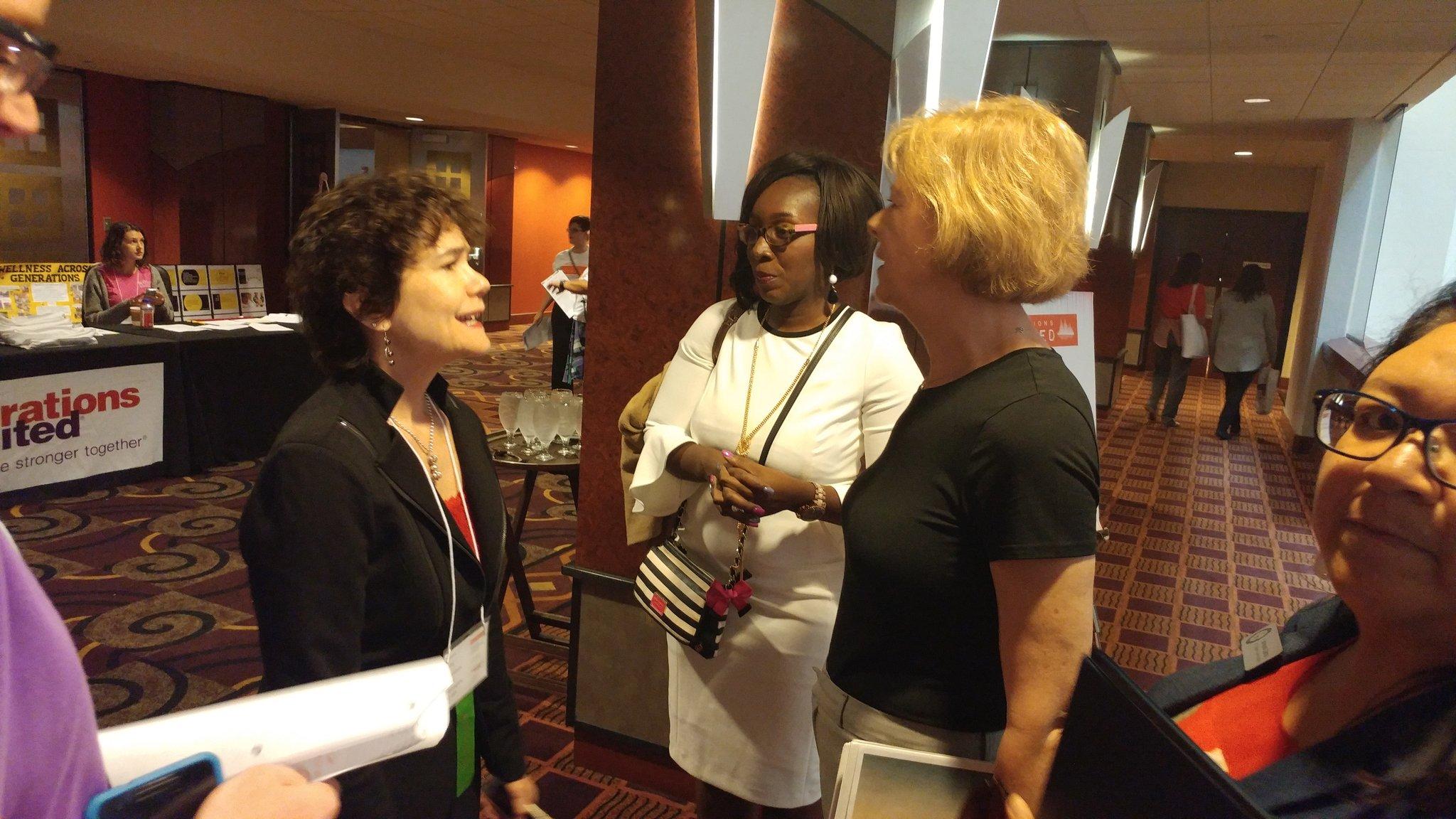Donna greets @SenatorBaldwin. #Gensunited17 #ageamped https://t.co/opsEYipgir