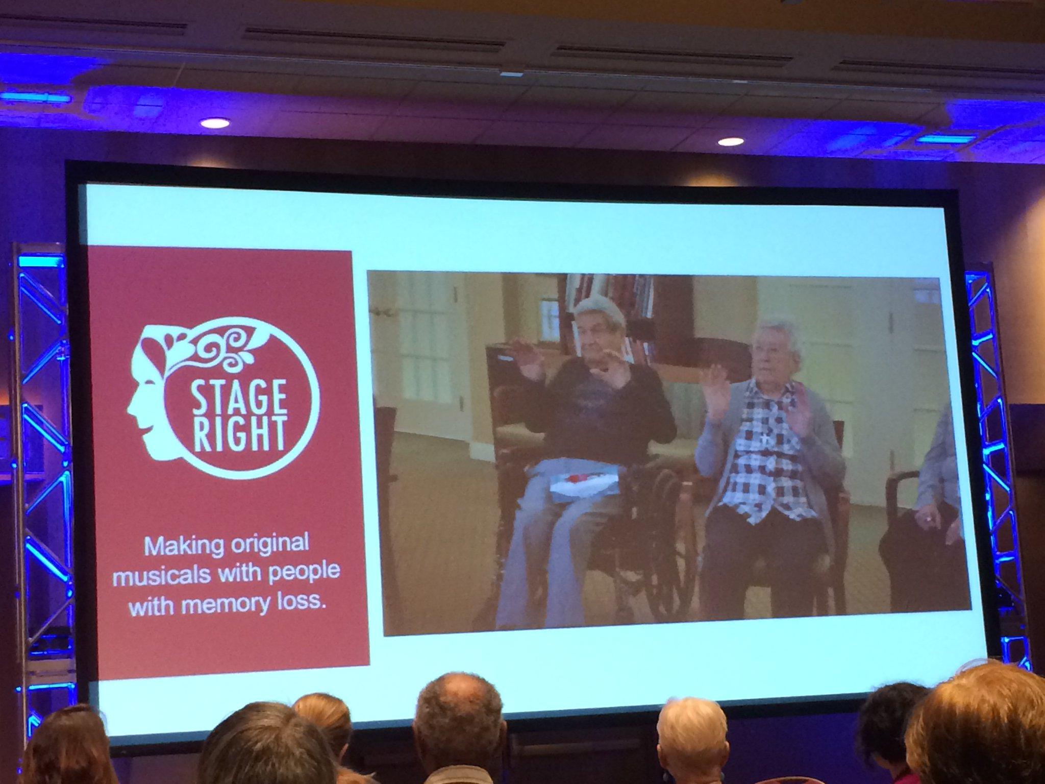 So  inspirational! We loved hearing about Stage Right and how they help people with memory loss create musicals! #GensUnited17 #ageamped https://t.co/XRVYfG2It1