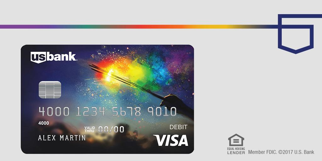 """U.S. Bank on Twitter: """"Wear your pride on your card. Introducing our U.S. Bank Visa® Debit Card ..."""