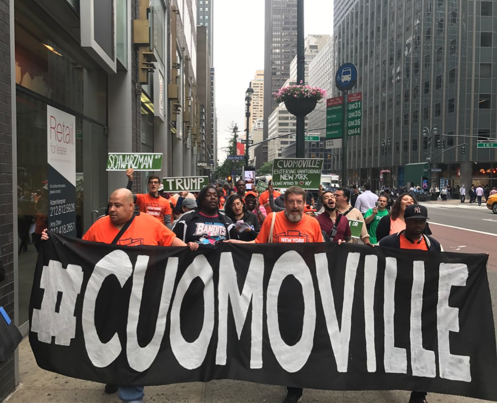 Marching to Blackstone Group, the investment firm that owns New York on @NYGovCuomo's watch #Cuomoville #TenantsRising https://t.co/Suh3ZOVJoC