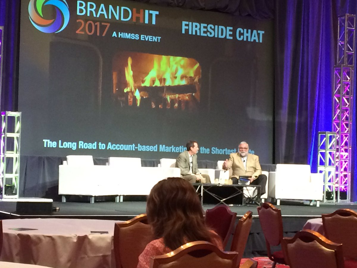 HIMSS takes &quot;fireside chat&quot; seriously #BrandHIT #accountbasedmarketing<br>http://pic.twitter.com/FGZzp5OjpA
