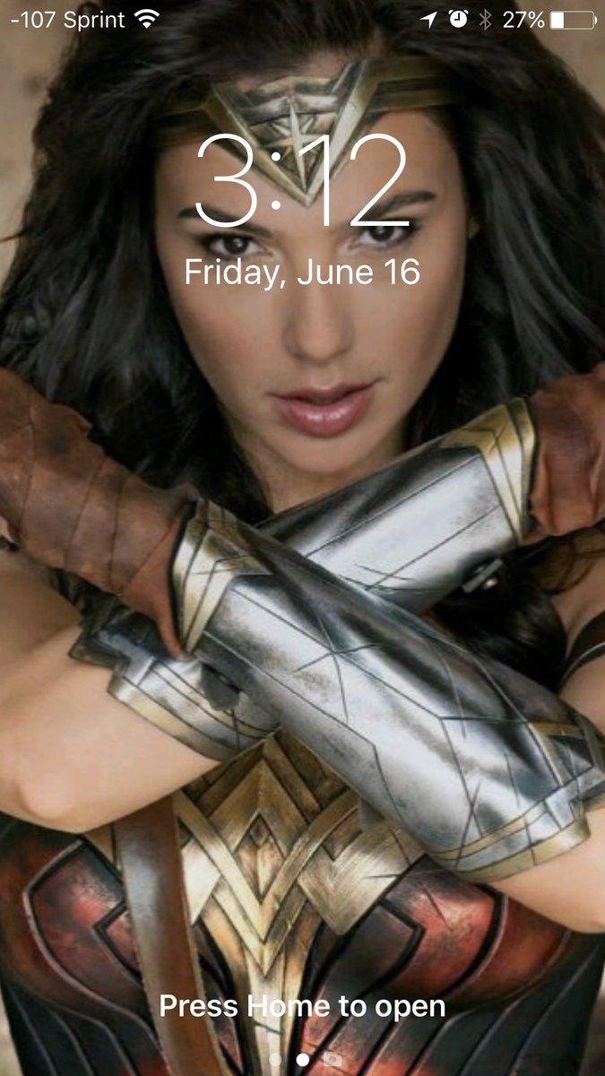 New lock  screen because she is fricken awesome! #WonderWoman  #lockscreen #iPhone7Plus #protectingmyphone cc: @GalGadot<br>http://pic.twitter.com/xDZNd2tB1K
