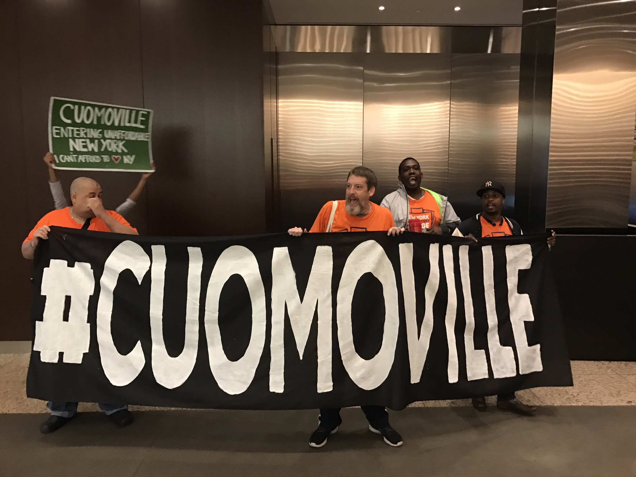 #cuomoville goes to Jared Kushner's office -- Trump's son-in-law and slumlord -- who harasses tenants bc Cuomo's weak rent laws https://t.co/4ox6il4ifa