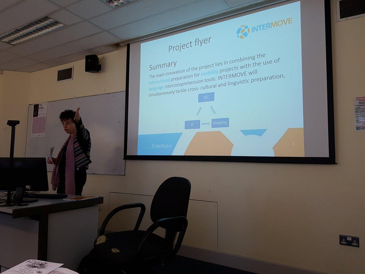 Kristin Brogan talking about InterMove Project #studyabroadconf