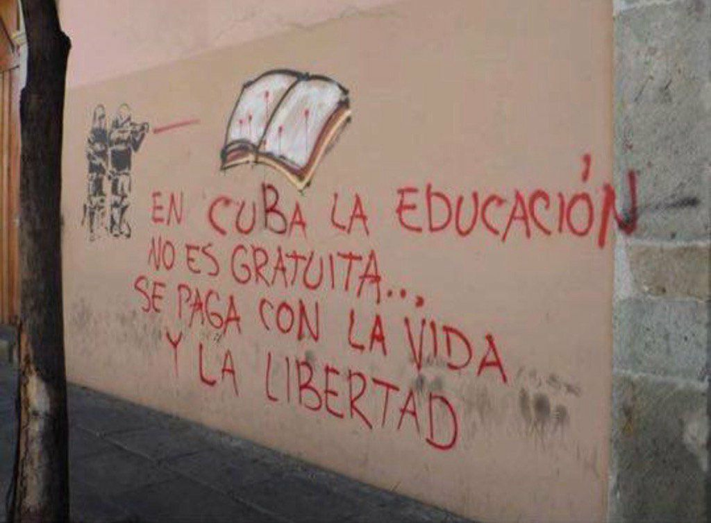 &quot;In #Cuba education is not free you pay with your life and your freedom.&quot; @SenSanders @Panama6715 @MamaReg2 #Rubio @CNN<br>http://pic.twitter.com/a0LUnVkOXd