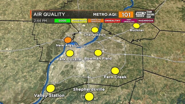 #Louisville air quality now in Code Orange - Unhealthy for Sensitive G...