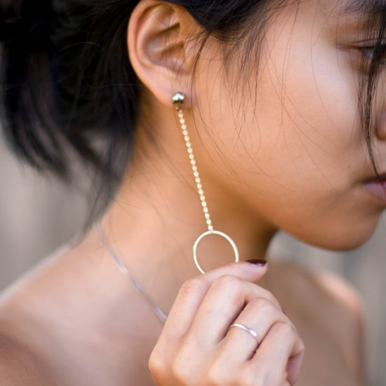 DIY Circle Hoop Drop Earrings