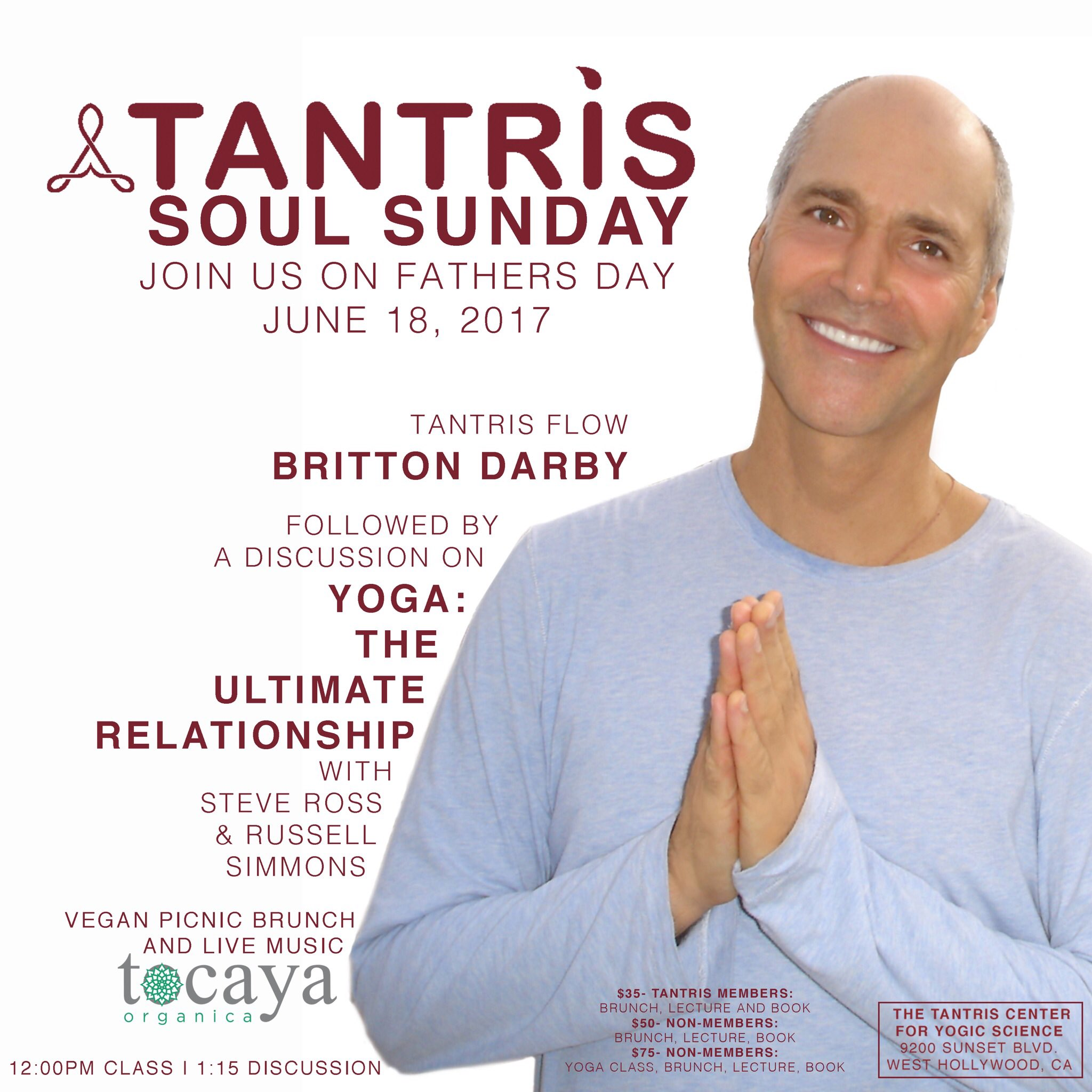 Soul Sunday 12pm. Come to Tantris for Father's Day https://t.co/NcFt0LjOmM