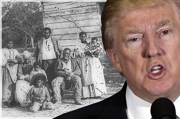 Donald Trump need just restore slavery in the United States and he will have succeeded the Grand Slam... #climat #Cuba #slave #Obamacare<br>http://pic.twitter.com/2bywtf32tW