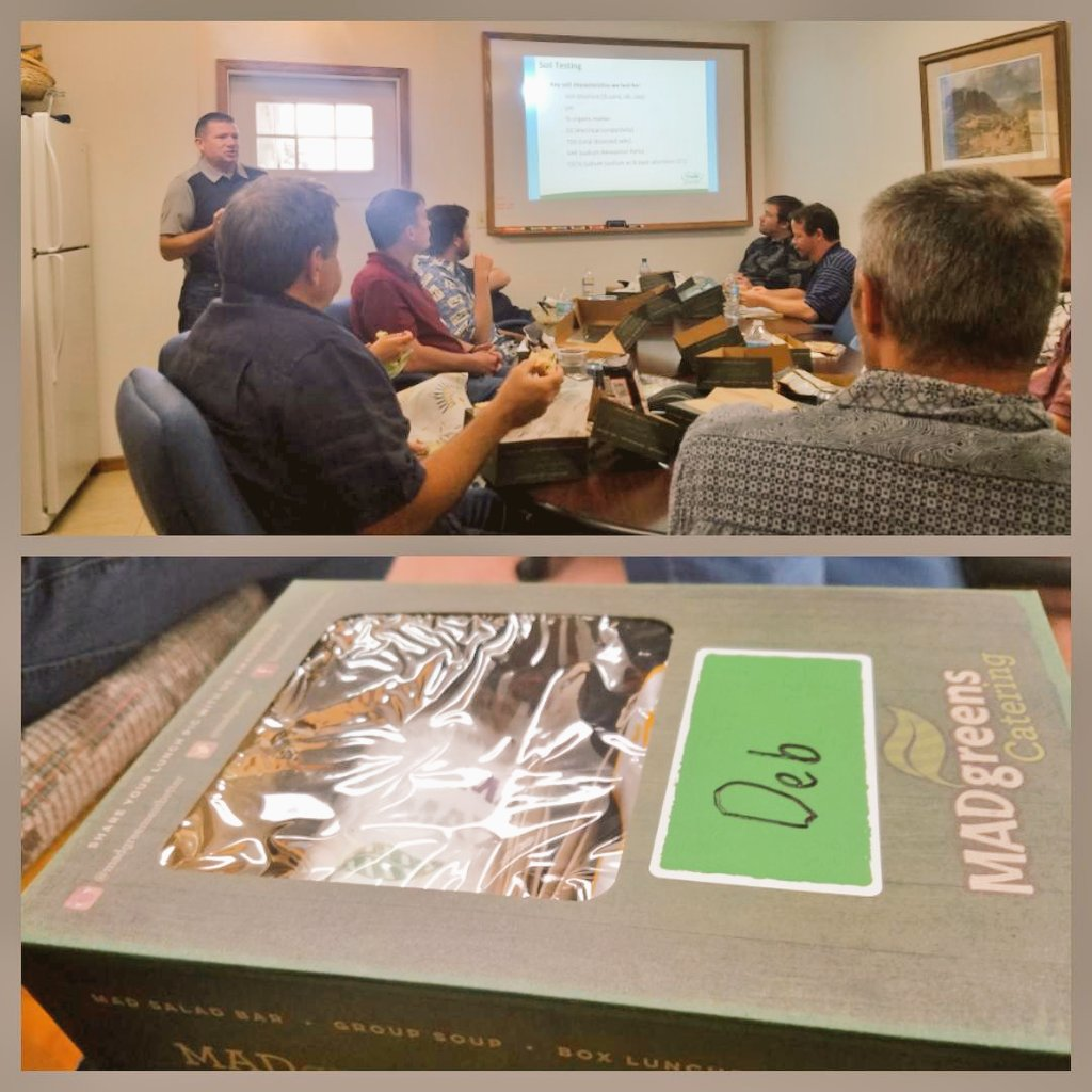 Lunch &amp; Learn by #Profile Products.. Got2 see their cool projects on Erosion Control &amp; Revegetation. Thanx for the info n the yummie wrap! <br>http://pic.twitter.com/g5IHBnvhWz