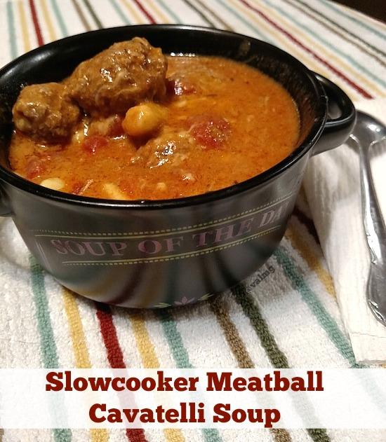 Slowcooker Meatball Cavatelli Soup #Recipe