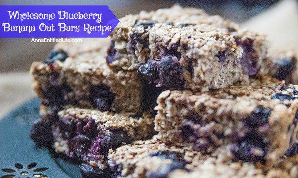 Wholesome Blueberry Banana Oat Bars Recipe