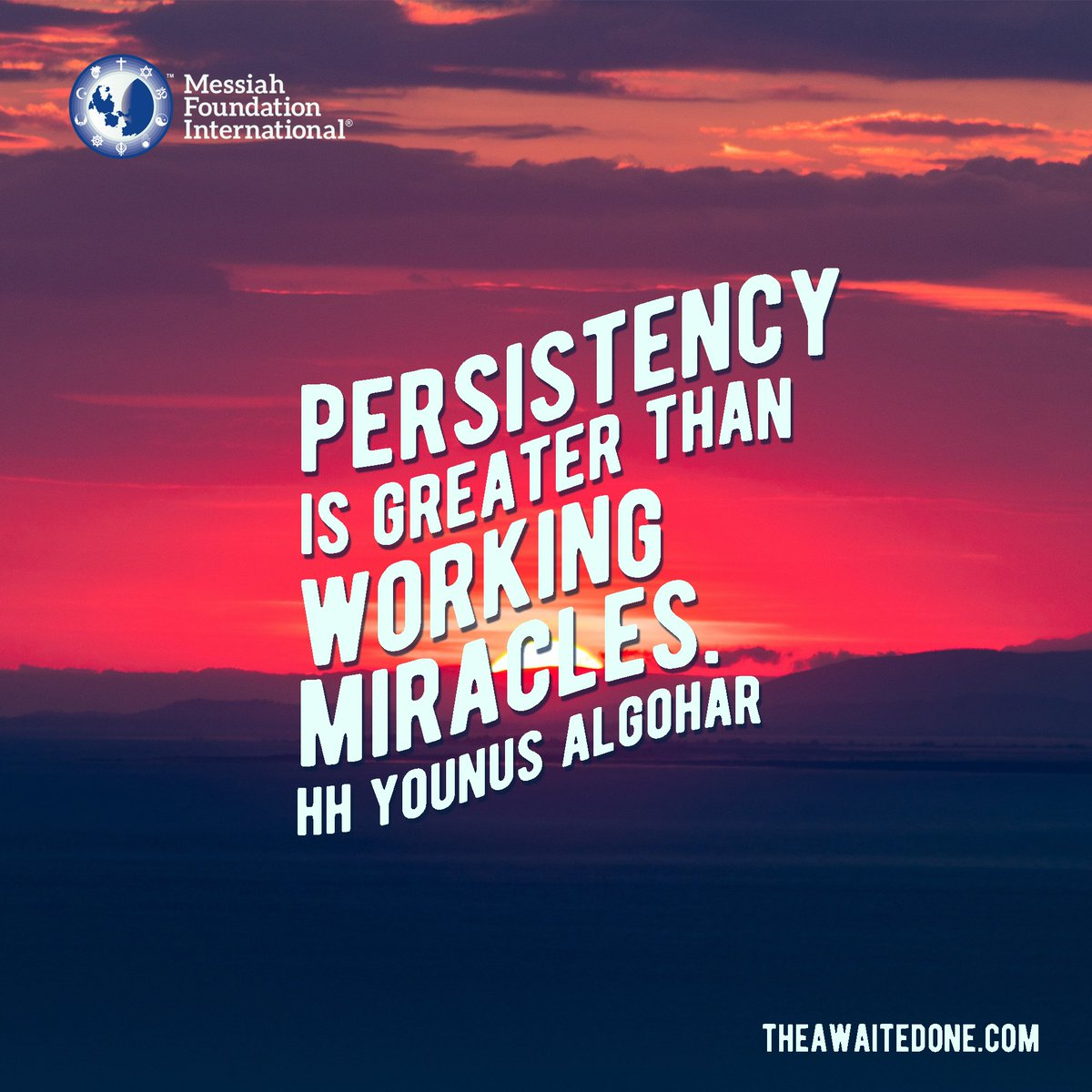 #QuoteoftheDay '#Persistency is #greater than #working #miracles.' - HH @YounusAlGohar<br>http://pic.twitter.com/lXws7Xgi4c