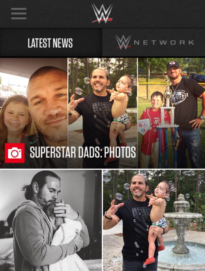 Me, Dada & Brother Xander on WWE.com today ! #FathersDay wwe.com/gallery/supers…