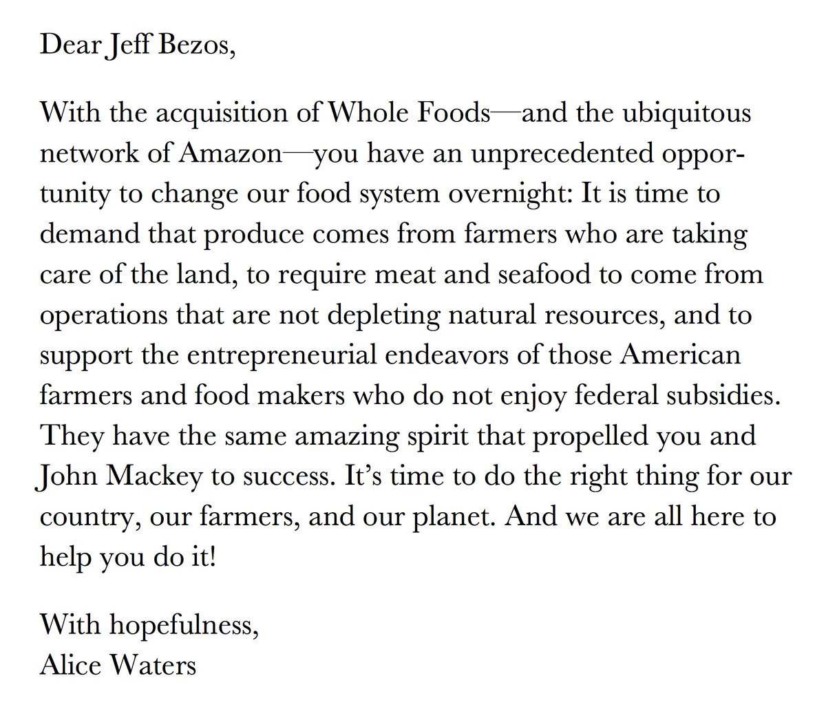 A message for @JeffBezos!