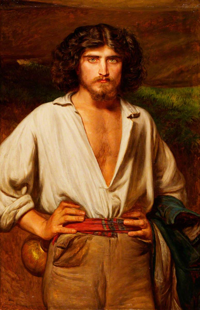 #Eyes  Henry Tanworth Wells, &quot;Man with Beard and Open-Necked Shirt&quot; (1864) @bgv_online @dianadep1 @MOCarballeira @RitaCobix @sandra_cortess<br>http://pic.twitter.com/K00tVs4ejy