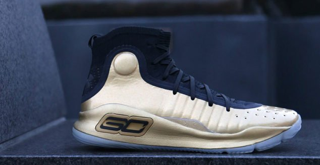d2f0167e612 Stephen Curry wore these UA Curry 4s during the Warriors parade ...