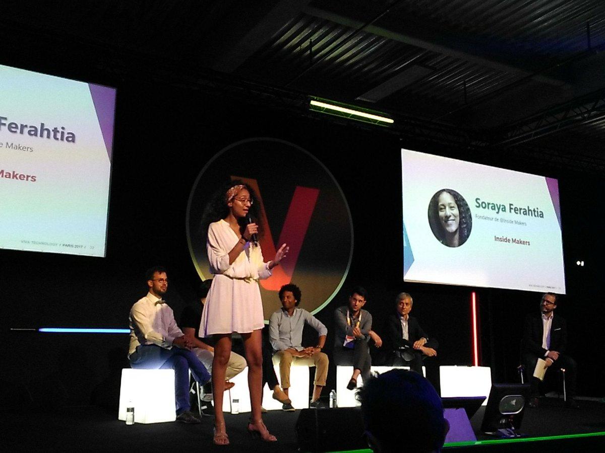 Pitch de Soraya Ferahtia sur son projet InsideMakers ! Plateforme de promotion de l&#39; #intrapreneuriat  #VivaTech #stage5 #PositiveImpact<br>http://pic.twitter.com/GLeeZs8nor