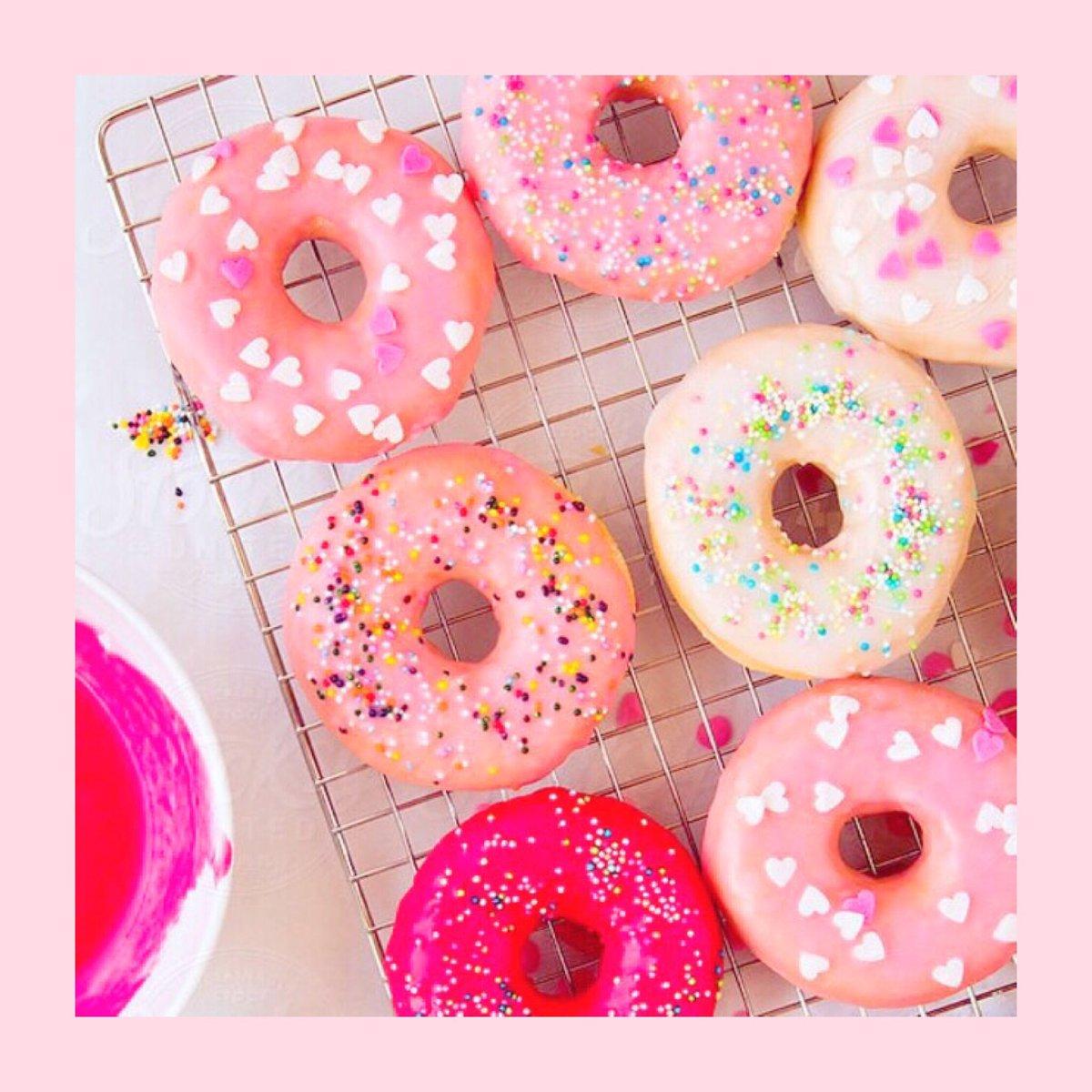 ピンク色のドーナツ