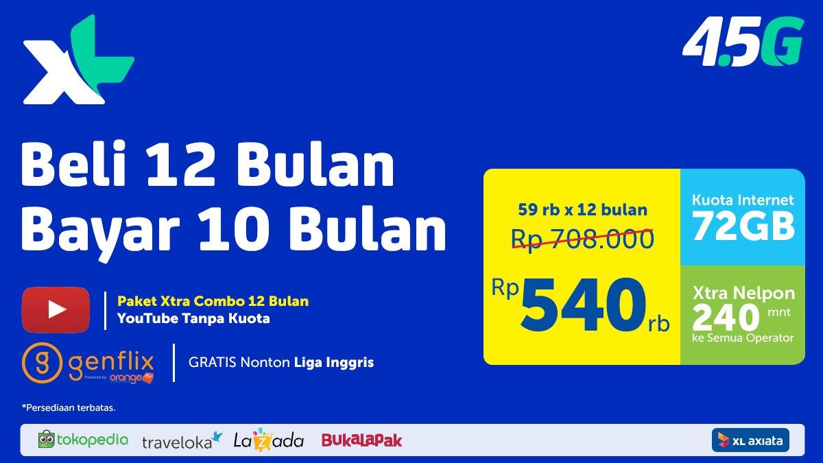 Xl Xtra Combo 18gb 12bln Daftar Harga Terbaru Dan Terupdate Indonesia Paket 12 Bulan Pilihan M Katalog Source Axiataverified Account Myxl