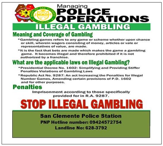 Penalties for illegal gambling online poker or online gambling