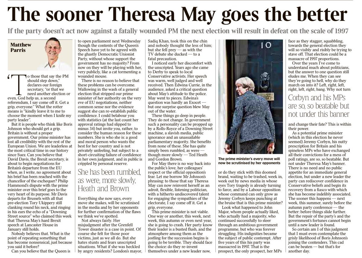 Matthew Parris: sticks the knife in oh so elegantly https://t.co/d3RxJ4eqyf