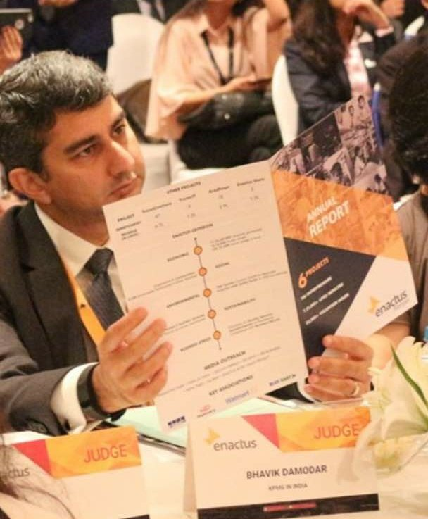 #Enactus is a great platform for students to put forth their ideas through projects that are socially impactful. Bhavik Damodar, Partner, <br>http://pic.twitter.com/m4uVDOQLAP